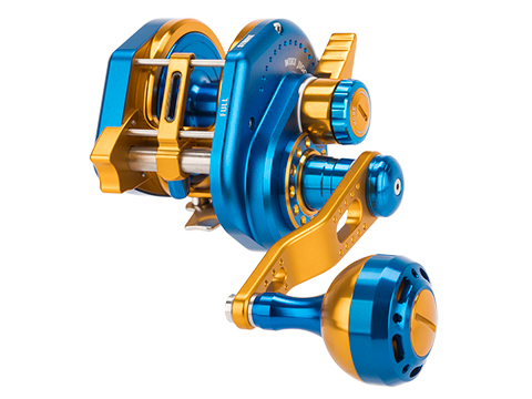 Jigging Master Wiki Violent Slow Lever Wind Fishing Reel w/ Automatic Line Guide (Model: 2000H Left Blue)