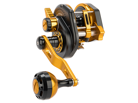 Jigging Master Wiki Violent Slow Lever Wind Fishing Reel w/ Automatic Line Guide (Model: 2000XH Left Black)