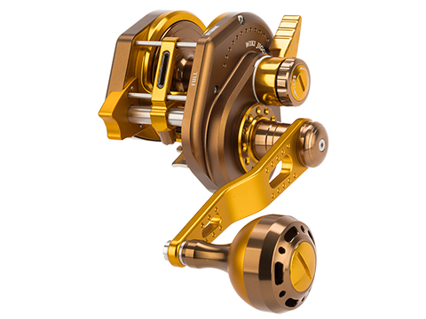 Jigging Master Wiki Violent Slow Lever Wind Fishing Reel w/ Automatic Line Guide (Model: 2000XH Left Gold)