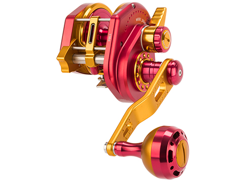 Jigging Master Wiki Violent Slow Lever Wind Fishing Reel w/ Automatic Line Guide (Model: 2000XH Left Red)