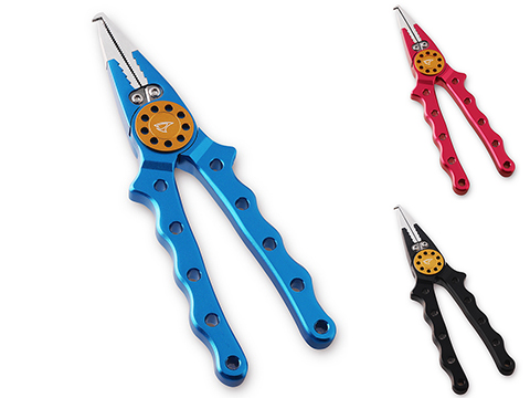 Jigging Master Professional Fishing Pliers (Color: Blue / Gold)