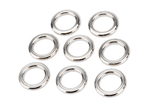 Jigging Maste Stainless Steel Solid Ring (Size: #M / 250lbs / 8 Pack)