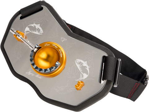 Jigging Master Patented Two Way 2012 Gimbal Plate (Model: Right Hand Silver / Gold)