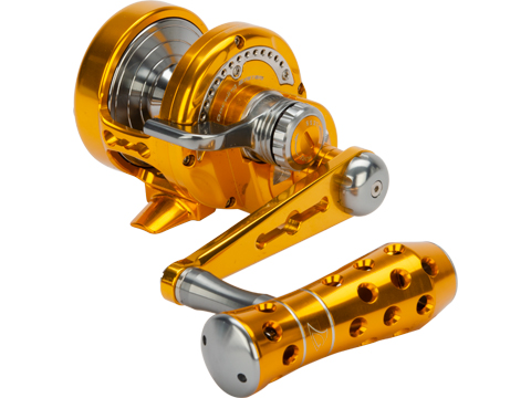 Jigging Master Power Spell Fishing Reel - Gold / Gray
