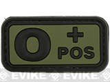 O Positive PVC Patch - Green