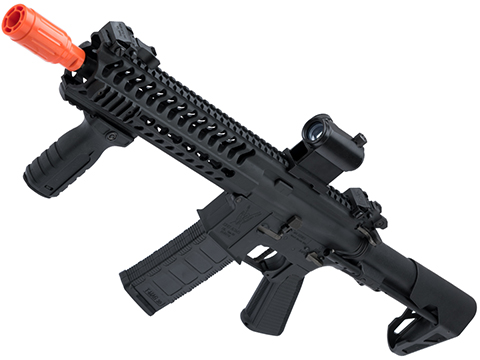 King Arms TWS M4 Striker Ultra Grade II Airsoft AEG Rifle (Color: Black / Keymod CQB)