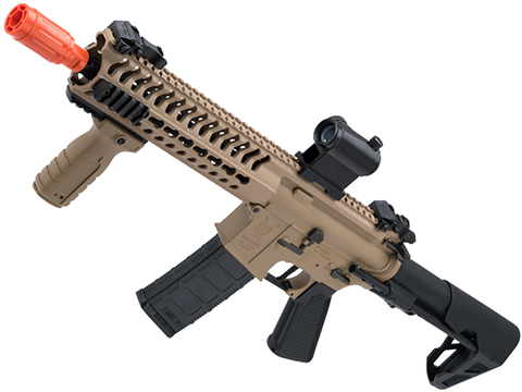 King Arms TWS M4 Striker Ultra Grade II Airsoft AEG Rifle (Color: Dark Earth / Keymod CQB)