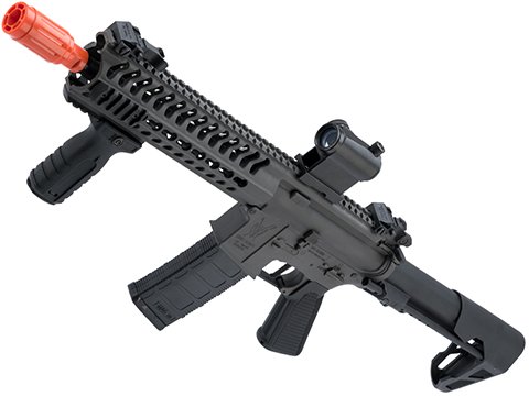 King Arms TWS M4 Striker Ultra Grade II Airsoft AEG Rifle (Color: Grey / Keymod CQB)