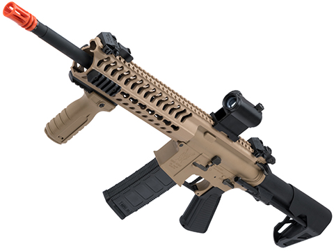 King Arms TWS M4 Striker Ultra Grade II Airsoft AEG Rifle (Color: Dark Earth / Keymod Carbine)