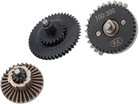 King Arms Helical Gear Sets for Tokyo Marui Spec Airsoft AEG Gearboxes (Type: 100:300 Normal Torgue)