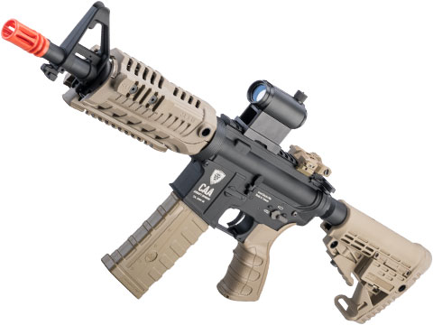 King Arms Command Arms Licensed Full Metal M4-S1 Airsoft AEG Rifle (Model: Dark Earth / CQB)
