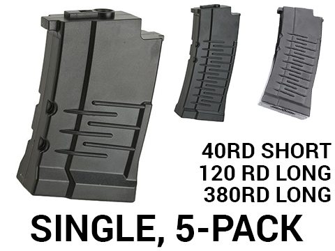 King Arms Polymer Magazine for VSS Airsoft AEG Sniper Rifles (Type: 40rd Short / 1 Pack)