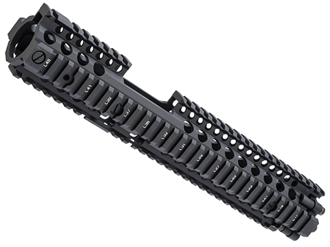 EMG Licensed Daniel Defense M4A1 RIS II Airsoft CNC Aluminum Handguard (Color: Black / 12.5 / FSP)