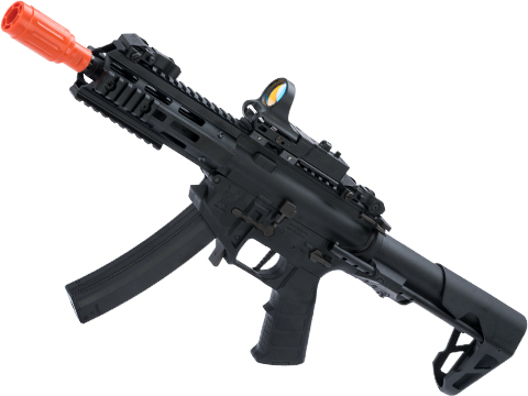 King Arms PDW 9mm SBR Airsoft AEG Rifle (Color: Black / M-LOK)