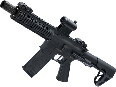 King Arms M4 PDW SBR Airsoft AEG Rifle (Color: Black / Long)