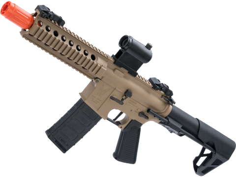 King Arms M4 PDW SBR Airsoft AEG Rifle (Color: Desert Earth / Long)
