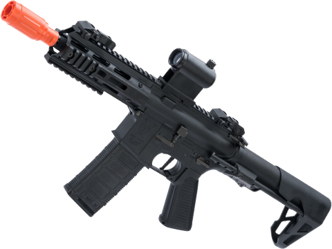 King Arms M4 PDW SBR Airsoft AEG Rifle (Color: Black / M-LOK)