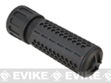 Knights Armament KAC Airsoft 556 QDC Mock Silencer w/ 3 Prong Flash Hider - Black / CQB (Thread: CCW)