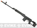 King Arms Co2 Powered High Power SVD Airsoft GBB Sniper Rifle - Black