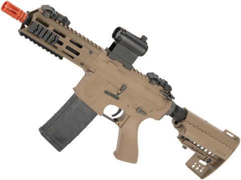 King Arms Ultra Grade II Polymer M4 TWS Airsoft AEG with M-LOK Handguard (Length: CQB / Desert)