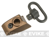 G&P CNC Aluminum Keymod Thumb Stop w/ QD Sling Swivel (Color: Sand / Left Hand)