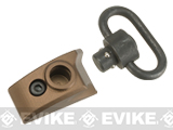 G&P CNC Aluminum Keymod Thumb Stop w/ QD Sling Swivel (Color: Sand / Right Hand)