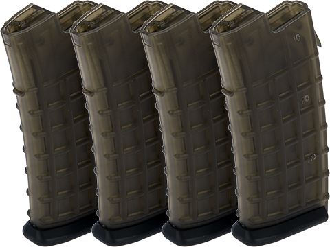 MAG 170 round No Winding Mid-Cap Magazine for AUG Series Airsoft AEG (Package: Package of 4)