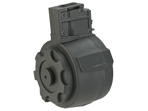 Angel Custom 1500 Round Firestorm Airsoft AEG Drum Flashmag (Color: Black / G36 Adapter)