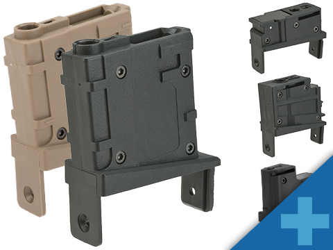 Angel Custom Magazine Adapter for Firestorm / Thunderstorm Airsoft AEG Drum Magazines (Version: M4 / Black)