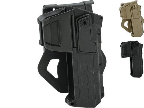 Army Force Tactical 1911 Hard Shell Level 2 Retention Holster (Color: Black - Paddle)