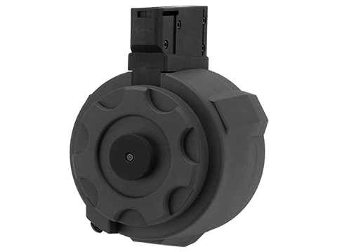 Angel Custom 1500 Round Firestorm Airsoft AEG Drum Flashmag (Color: Black / M14 Adapter)