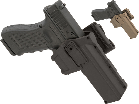 Army Force Tactical Glock 17/18 Hard Shell Level 2 Retention Holster (Color: Black / MOLLE QD)
