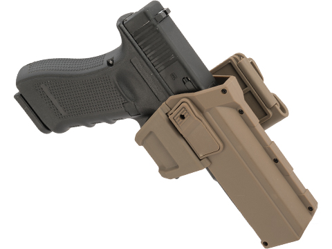 Army Force Tactical Glock 17/18 Hard Shell Level 2 Retention Holster (Color: Dark Earth / MOLLE QD)