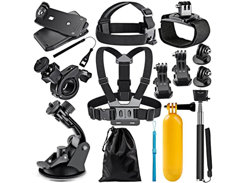 12-in-1 Bundled Outdoor Kit for GoPro Wearable Action Cameras