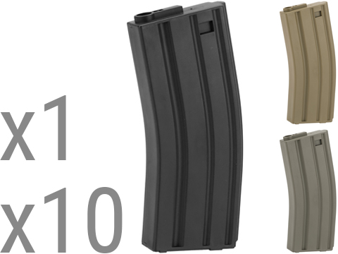 King Arms 120 Round Mid-Cap M4/M16 AEG Magazine (Color: Black / Single Magazine)