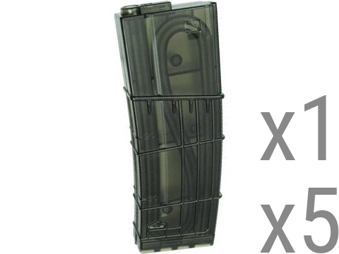 King Arms L5 Style Translucent 130rd Mid-Cap Magazine for M4 / M16 Series Airsoft AEG