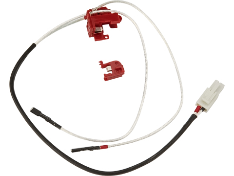 King Arms Low Resistance Silver Cord and Switch Set for Version 2 Gearbox (Rear Wiring)
