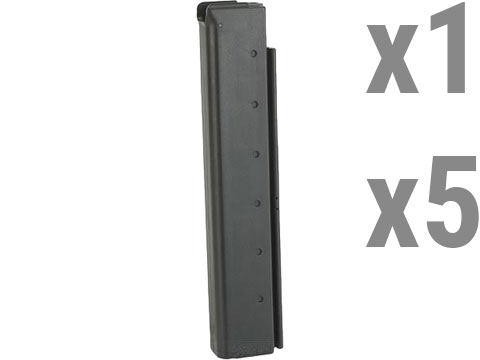 King Arms 60 Round Mid-Cap Magazine for M1A1 / Thompson Airsoft AEG Rifles (Package: Single Magazine)