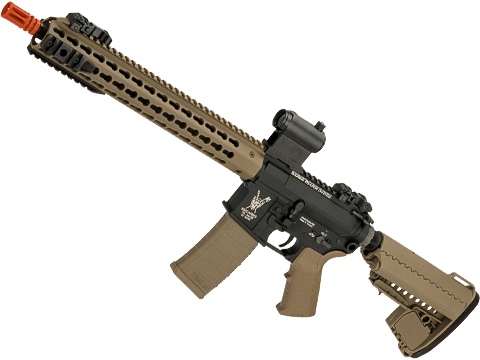 King Arms TWS M4 Carbine Airsoft AEG with Keymod Handguard (Color: Dark Earth)