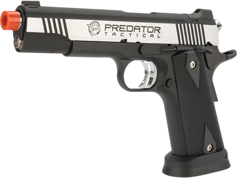 Predator Tactical Iron Shrike Gas Blowback 1911 Pistol by King Arms (Color: Two-Tone / CO2)