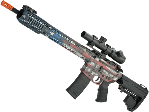Black Rain Ordnance Fallout 15 Force Airsoft M4 AEG by King Arms with Custom Stars and Stripes Cerakote Finish