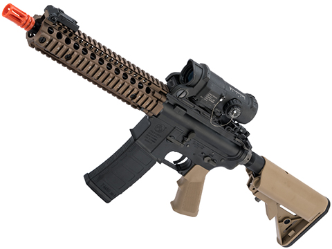 EMG Colt Licensed Daniel Defense M4A1 SOPMOD Block 2 Airsoft AEG (Model: MK18 MOD1 / Tan Furniture / 350 FPS)