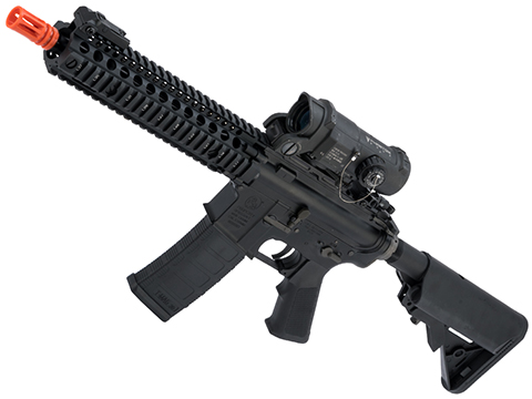 EMG Colt Licensed Daniel Defense M4A1 SOPMOD Block 2 Airsoft AEG (Model: MK18 MOD1 / Black Furniture)