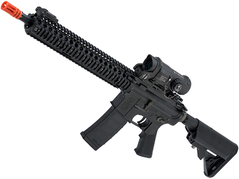 EMG Colt Licensed M4 SOPMOD Block 2 Airsoft AEG Rifle with Daniel Defense Rail System (Model: 12 M4A1 / Black)