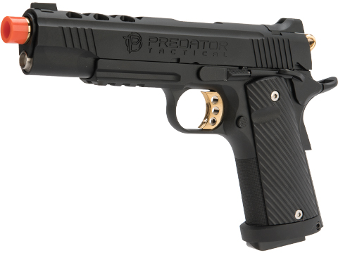 Predator Tactical Iron Shrike Gas Blowback 1911 Pistol by King Arms (Color: Custom III / Gas / Rail)