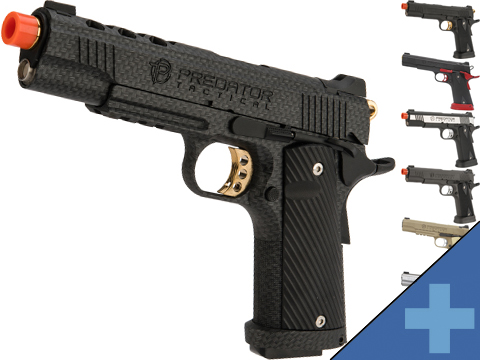 Predator Tactical Iron Shrike Gas Blowback 1911 Pistol by King Arms
