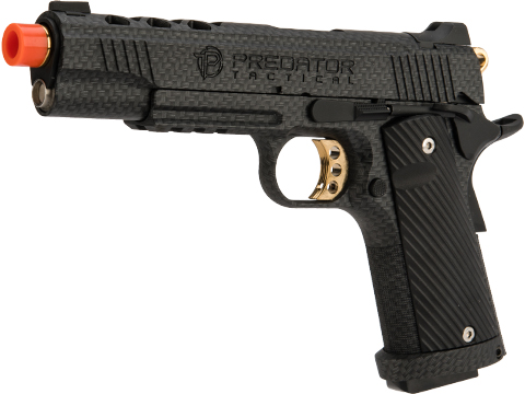 Predator Tactical Iron Shrike Gas Blowback 1911 Pistol by King Arms (Color: Carbon / CO2 / Rail)