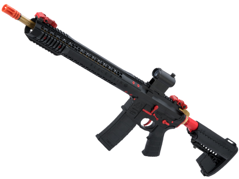 EMG Black Rain Ordnance BRO SPEC15 Licensed AR-15 Airsoft AEG Rifle (Color: Black, Red & Gold / Rifle)