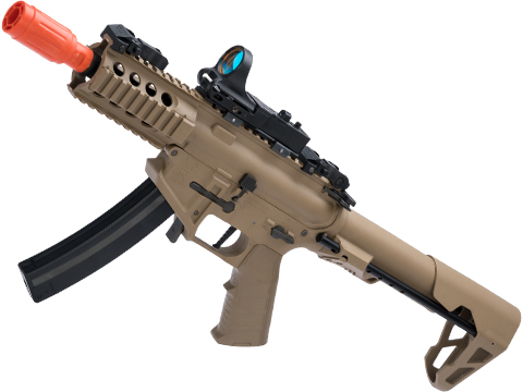 King Arms PDW 9mm SBR Airsoft AEG Rifle (Color: Desert Earth / Shorty)