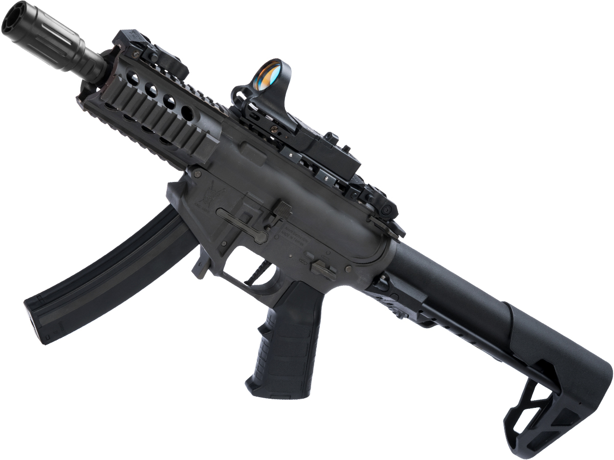 King Arms PDW 9mm SBR Airsoft AEG Rifle (Color: Grey / Shorty)